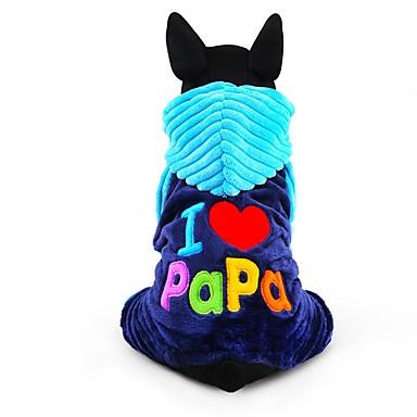 Perro Mono Ropa para Perro Letra y Número Rosa Azul Pana Disfraz Para mascotas Hombre Mujer Bonito Mantiene abrigado Moda