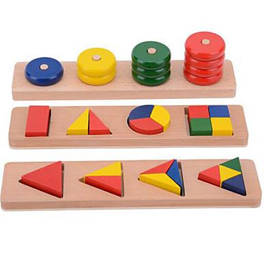 hesapli Oyuncaklar ve Oyunlar-Montessori Eğitim Araçları Legolar Eğitici Oyuncak Oyuncaklar Dörtgen Dairesel Eğitim Yenilikçi Tahta Genç Kız Genç Erkek 1 Parçalar