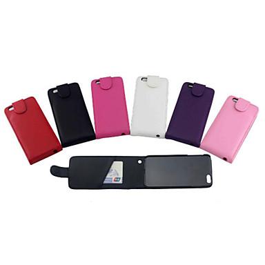 Uyumluluk iPhone 8 iPhone 8 Plus iPhone 6 Plus Kılıflar Kapaklar Kart Tutucu Flip Tam Kaplama Pouzdro Tek Renk Sert PU Deri için Apple