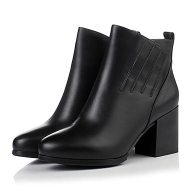 Damen-Stiefel-Kleid Lässig Party & Festivität-PU-Blockabsatz-Andere-Schwarz