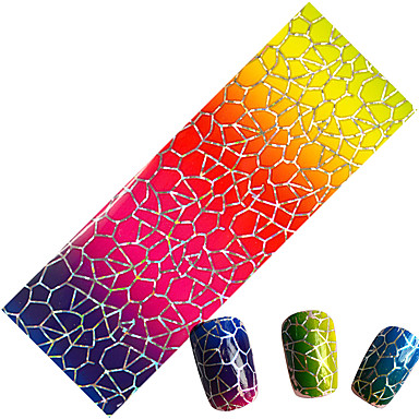 1pcs Glitter & Poudre Nail Stamping Template Daglig Mote Høy kvalitet
