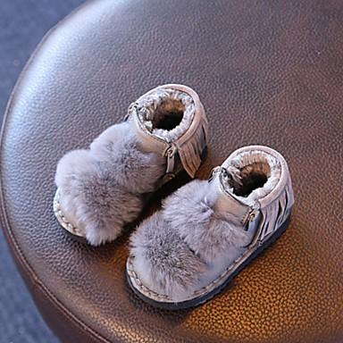 女の子 靴 レザーレット 秋 冬 コンフォートシューズ ブーツ フラットヒール ラウンドトウ 用途 カジュアル ブラック グレー レッド