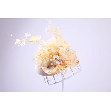 Nachahmungsperlenharzflanellehutkopfstück-elegante Art
