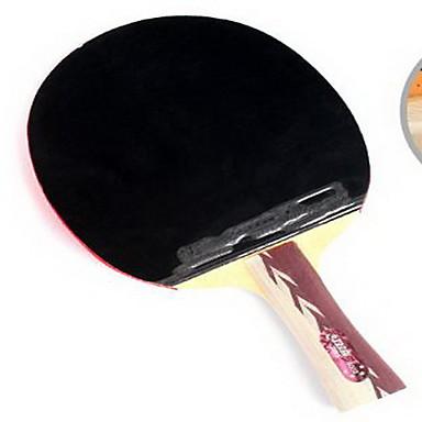 4スター Ping Pang/卓球ラケット Ping Pang ウッド ロングハンドル にきび