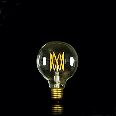 bofa g80 levou 6w lâmpada de bolinha de seda edison antiga (85v-265v)