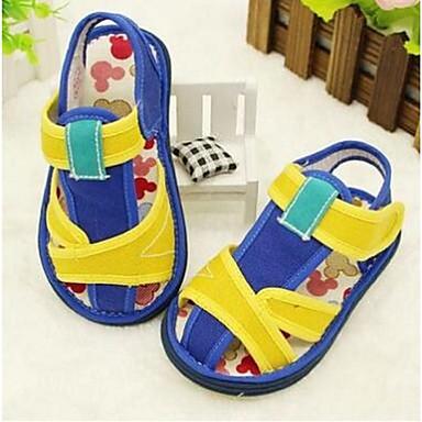 キッズ 女の子 赤ちゃん 靴 コットン コンフォートシューズ サンダル 用途 カジュアル レッド ブルー