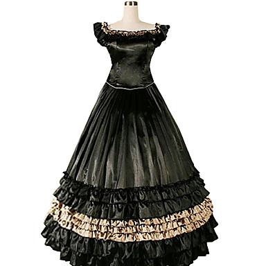 ゴスロリータ ヴィクトリアン 女性用 ワンピース ドレス コスプレ 長袖