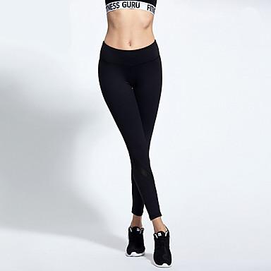 Dame Joggebukser sport Bukser - Yoga & Danse Sko, Trening & Fitness, Løp Pustende Uelastisk Hvit, Svart Klassisk