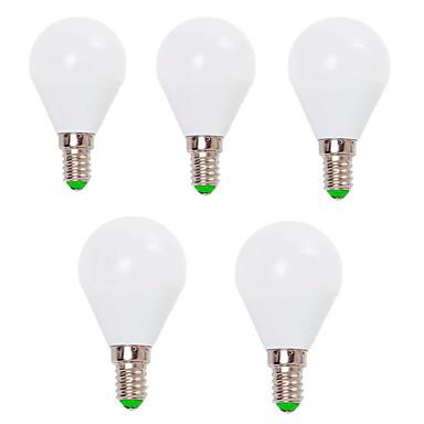 EXUP® 5pcs 7W 800lm E14 E26 / E27 Bombillas LED de Globo G45 12 Cuentas LED SMD 2835 Decorativa Blanco Cálido Blanco Fresco 110-130V