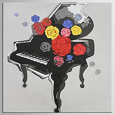 Hang malte oljemaleri Håndmalte - Pop Kunst Klassisk / Moderne Inkluder indre ramme / Stretched Canvas