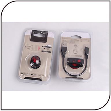 Światła rowerowe Tylna lampka rowerowa światła bezpieczeństwa LED - Kolarstwo Akumulator Inne 80 Lumenów USB Kolarstwo motocykl-XIE SHENG®
