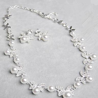 Damen Schmuckset Perle Perle Brautkleidung Modisch Hochzeit Alltag 1 Halskette 1 Paar Ohrringe Modeschmuck
