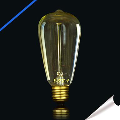 1pc 25W E27 E26/E27 E26 ST64 Toplo bijelo 2300 K Žarulja sa žarnom niti Edison 220V 85-265V