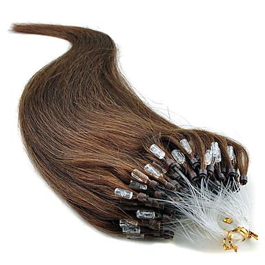 """voordelige Extensions van echt haar-20"""" jet black (# 1) 100s micro loop human hair extensions"""