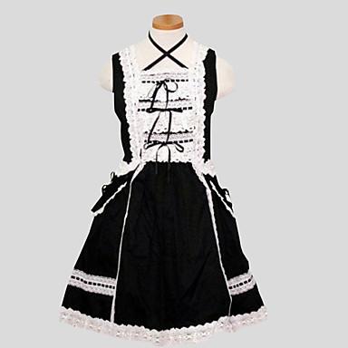 クラシック/伝統的なロリータ ロココ調 女性用 ワンピース ドレス コスプレ ノースリーブ