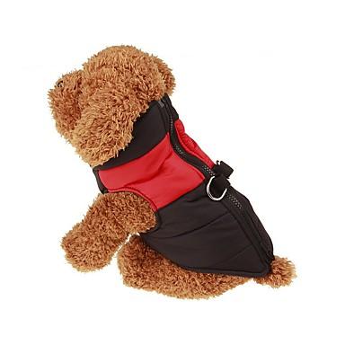 犬 コート / ベスト 犬用ウェア ソリッド グリーン / ブルー / ピンク ナイロン コスチューム ペット用 男性用 / 女性用 保温