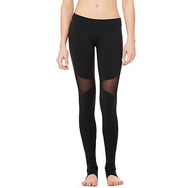 Dame Tights - sport Yoga & Danse Sko, Trening & Fitness, Løp Fort Tørring, Pustende, Komprimering Elastisk Svart, Ametyst Klassisk, Sexy,