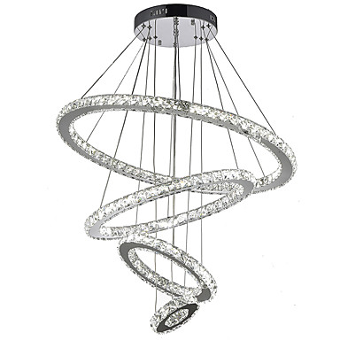 Pendant Light Ambient Light - Crystal, LED, 110-120V / 220-240V, Warm White / Cold White, LED Light Source Included / 15-20㎡ / LED Integrated