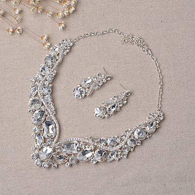 cheap Jewelry Sets-Women's Jewelry Set Party Include Bridal Jewelry Sets Silver For Wedding Party
