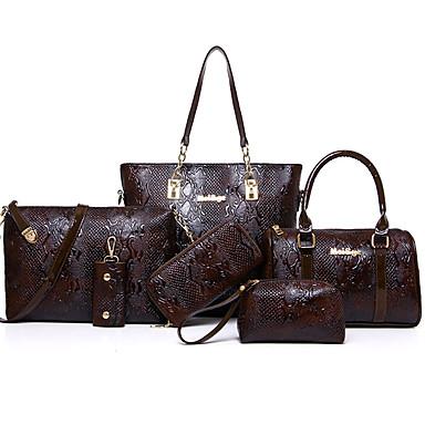 Damen Taschen Spezielle Werkstoff Kunstleder Reisverschluss Bag Set 6 Stück Geldbörse Set Paillette für Formal Büro & Karriere Draussen