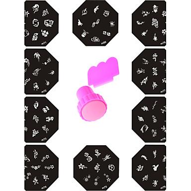 11 Абстракция Стемпинг Пластины изображения шаблона Стампер скреперов