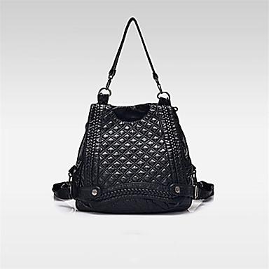 Mulheres Bolsas Courino mochila para Compras Casual Ao ar livre Todas as Estações Preto