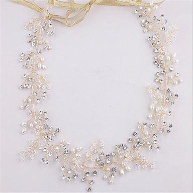 Krystall Imitert Perle Strass pannebånd 1 Bryllup Spesiell Leilighet Hodeplagg