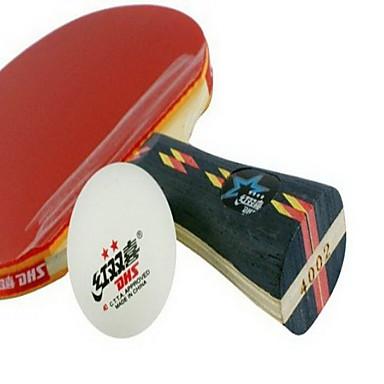4 Tähteä Ping Pang/Table Tennismailat Ping Pang Puu Lyhyt kahva Näppylöitä