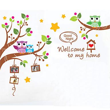 Животные Мультипликация Наклейки Наклейки для животных Декоративные наклейки на стены, Винил Украшение дома Наклейка на стену Стена