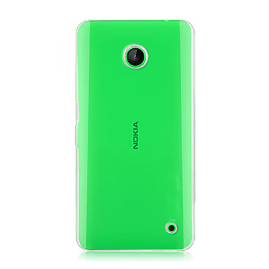 For Nokia Case Transparent Case Back Cover Case Solid Color Hard PC Nokia Nokia Lumia 630
