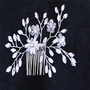 模造真珠のラインストーンの髪の櫛頭の古典的な女性のスタイル