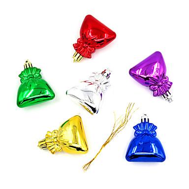 クリスマスデコレーション クリスマスパーティー用品 ホリデー用品 12Pcs クリスマス プラスチック シルバー グレー ブラウン レッド ピンク グリーン