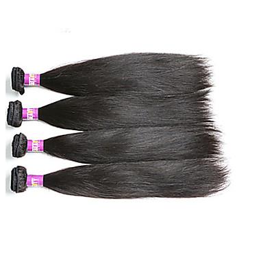 Hiukset kutoo Perulainen Straight 4 osainen hiukset kutoo