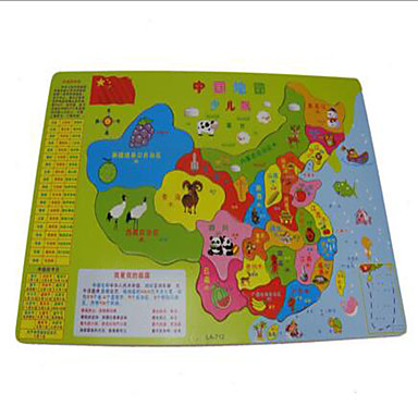 Holzpuzzle Bildungsspielsachen Spielzeuge Quadratisch Karte Neuartige Mädchen Jungen 1 Stücke