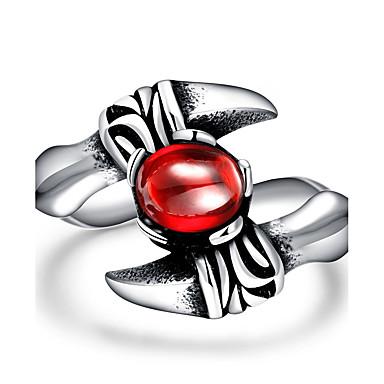 Ring Kubikzirkonia Stahl Rot Schmuck Für Normal 1 Stück