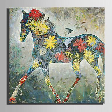 Hang malte oljemaleri Håndmalte - Dyr Europeisk Stil Moderne Lerret