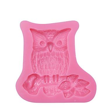 Owl Branch Design DIY Silicone 3D Cake Mold Fondant Decoration Mold Cake Cooking Tools Fondant Molds SM-072