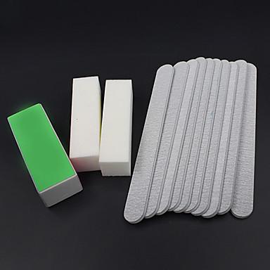 13pcs / set lixar arquivos de arte bloco amortecedor do prego ferramentas salão de manicure pedicure kits conjunto de gel uv
