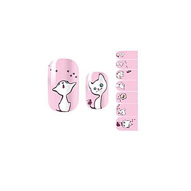 1 - 10*7*0.1 - Αφηρημένο/Lovely/Γάμος - 3D Αυτοκόλλητα Νυχιών Δάχτυλο