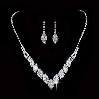 للمرأة مجموعة مجوهرات - تصفيح بطلاء الفضة تتضمن فضي من أجل زفاف / حزب