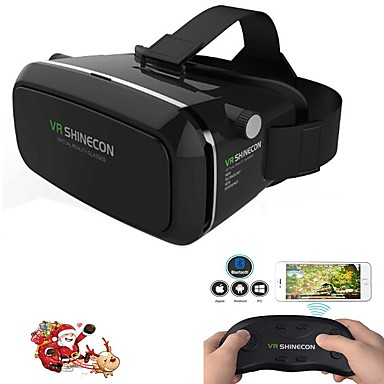 d09d04a03765e Virtual headset realidade vr shinecon óculos de jogos do filme 3D para  gamepad remoto whi smartphones