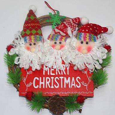 ホリデー・デコレーション クリスマスデコレーション クリスマスパーティー用品 おもちゃ サンタスーツ 雪だるま 楽しい ウッド 子供用 小品