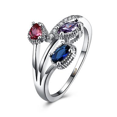Ring Kubikzirkonia Luxus-Schmuck Diamantimitate Aleación Blau Verschiedene Farben Schmuck Für Normal 1 Stück