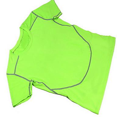 男性用 ランニングTシャツ 半袖 速乾性 高通気性 モイスチャーコントロール トレーナー トップス のために エクササイズ&フィットネス レーシング ランニング クールマックス テリレン スリム ブラック オレンジ グレー フクシャ ライトグリーン M L XL XXL