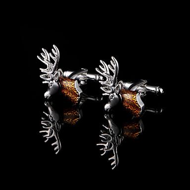 hirvi pää kalvosinnapit miesten kupari materiaali kalvosinnapit joululahjat isän nykyinen eläin koruja lahjapaketti