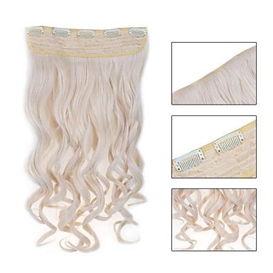 5 κλιπ κυματιστό # 60 συνθετικά μαλλιά κλιπ σε επεκτάσεις τρίχας για τις κυρίες περισσότερα χρώματα διαθέσιμα