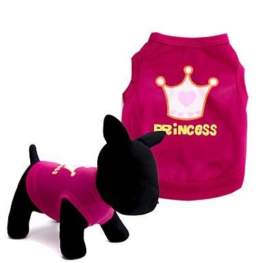 Hund Trøye/T-skjorte Vest Hundeklær Kroner og tiaraer Rød Rosa Terylene Kostume For kjæledyr Herre Dame Søtt Mote