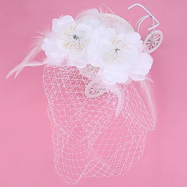 チュール 人造真珠 ファブリック ネット ヘッドドレス コサージュ バードケージベール ティアラ かぶと