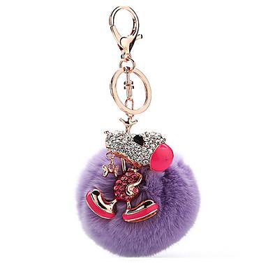 Key Chain おもちゃ Key Chain 球体 犬 メタル プラッシュ 1 小品 男の子 女の子 クリスマス 新年 誕生日 ギフト