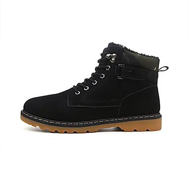 Bootsit-Tasapohja-Miesten-Mokkanahka-Musta Sininen Keltainen-Rento-Comfort